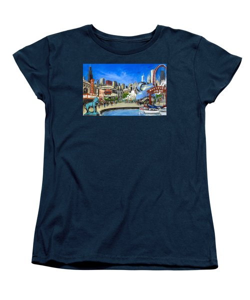Impressions Of Chicago Women's T-Shirt (Standard Cut) by Robert Reeves