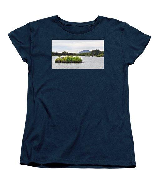 Women's T-Shirt (Standard Cut) featuring the photograph In An Iceland Lake by Joe Bonita