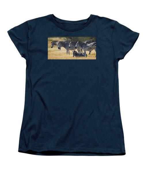 In Line Zebras Women's T-Shirt (Standard Cut) by Joe Bonita