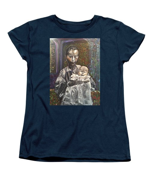Women's T-Shirt (Standard Cut) featuring the painting In My Life by Belinda Low