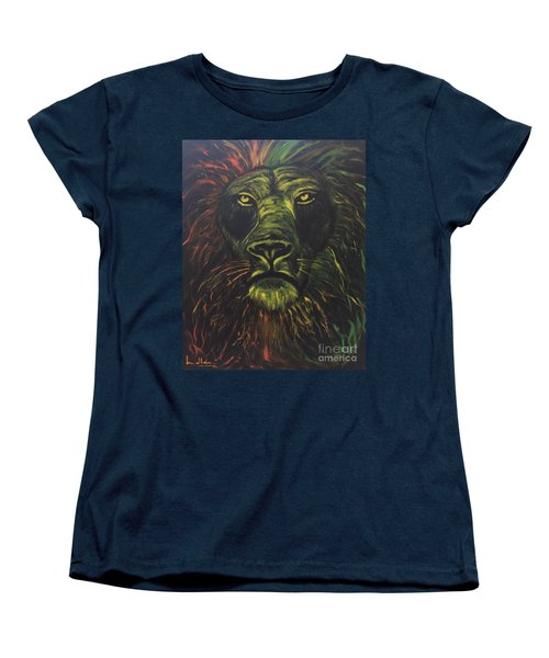 Women's T-Shirt (Standard Cut) featuring the painting In The Dark by Brindha Naveen
