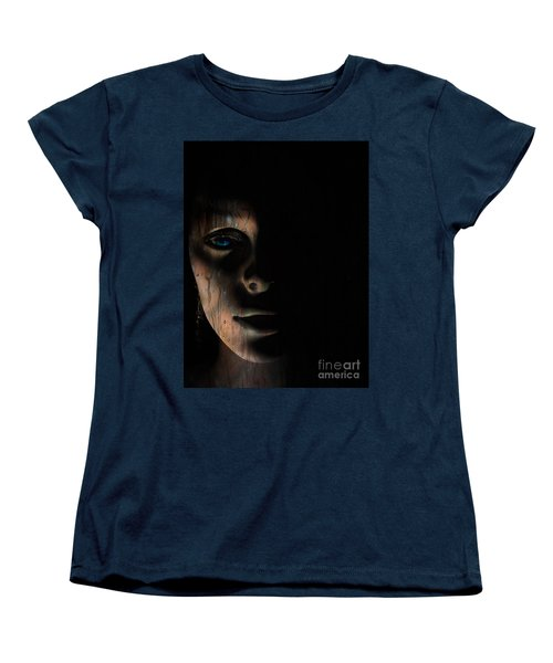 Women's T-Shirt (Standard Cut) featuring the photograph In The Dark by Trena Mara