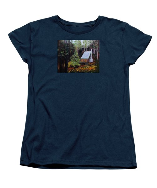 In The Deep Woods Women's T-Shirt (Standard Cut) by Mike Caitham