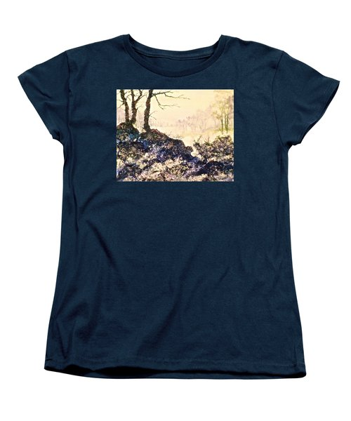Women's T-Shirt (Standard Cut) featuring the painting In The Distance by Carolyn Rosenberger