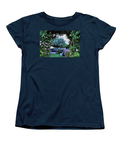 In The Garden At Mount Zion Hotel  Women's T-Shirt (Standard Cut) by Lydia Holly
