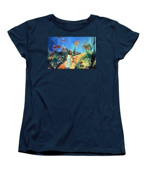 In The Garden Of Joy Women's T-Shirt (Standard Cut) by Winsome Gunning