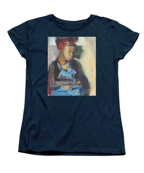 Women's T-Shirt (Standard Cut) featuring the painting In The Still Of Quiet by Daun Soden-Greene