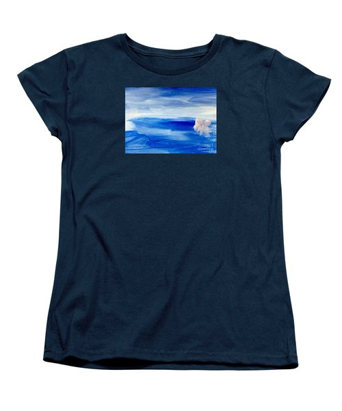 Women's T-Shirt (Standard Cut) featuring the painting In This Sea Of Life by Trilby Cole