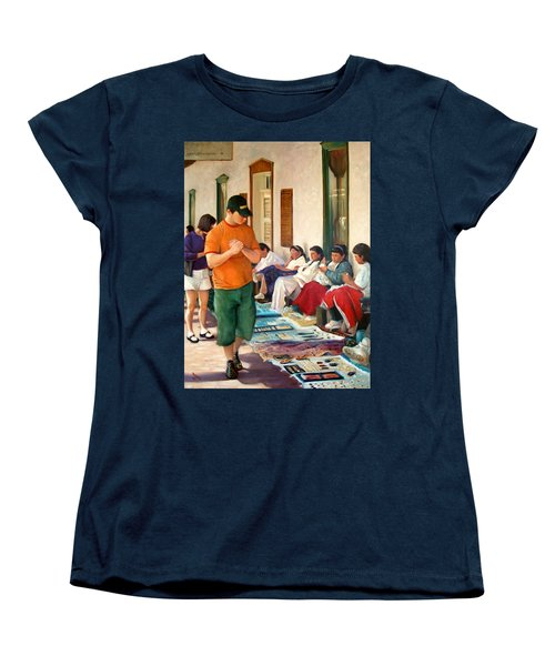 Women's T-Shirt (Standard Cut) featuring the painting Indian Market by Donelli  DiMaria