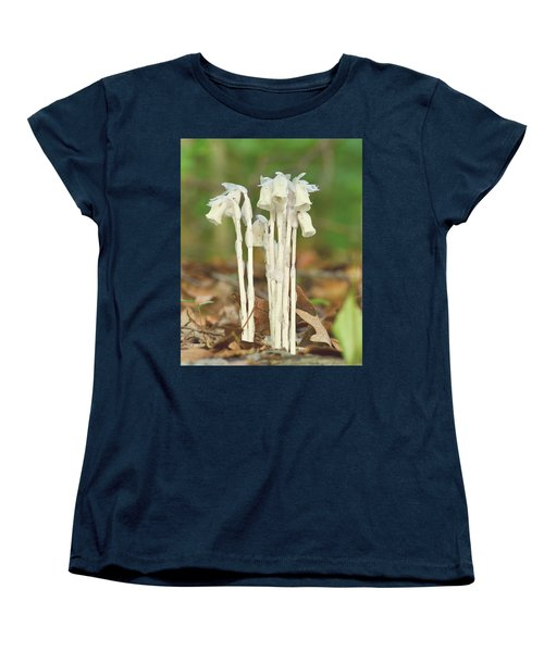 Indian Pipes Women's T-Shirt (Standard Cut) by JD Grimes