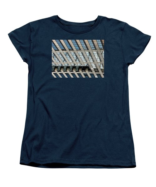 Women's T-Shirt (Standard Cut) featuring the photograph Indianapolis Downtown by Michael Nowotny