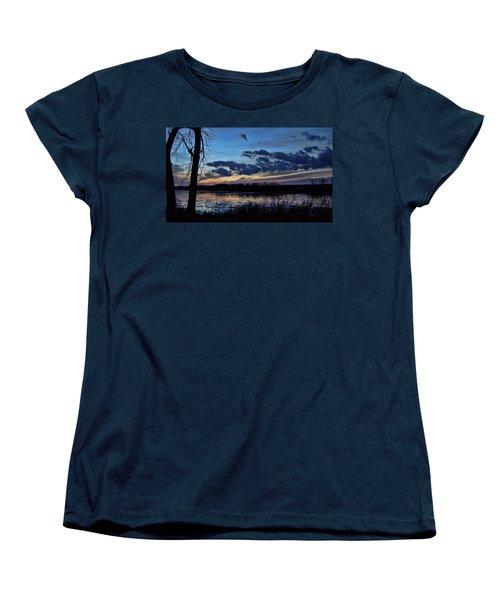 Women's T-Shirt (Standard Cut) featuring the photograph Indigo Skies by Cricket Hackmann