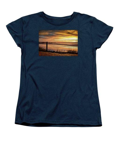 Inlet Watch At Dawn Women's T-Shirt (Standard Cut) by Phil Mancuso