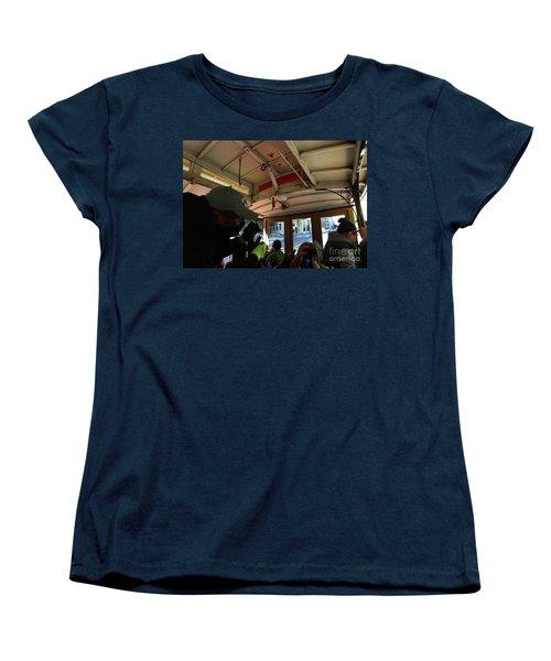 Inside A Cable Car Women's T-Shirt (Standard Cut) by Steven Spak