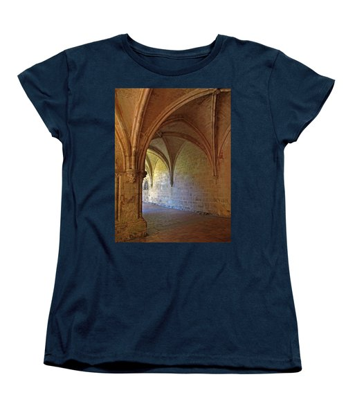 Inside A Monastery Dordogne France  Women's T-Shirt (Standard Cut) by Dave Mills