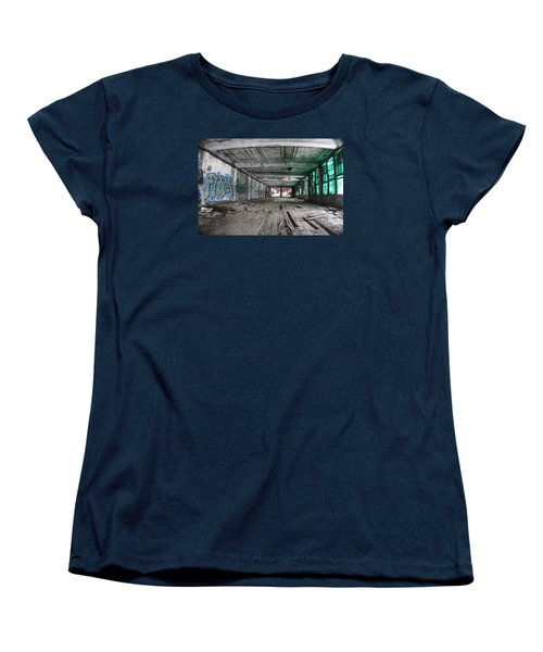 Inside Detroit Packard Plant  Women's T-Shirt (Standard Cut) by John McGraw