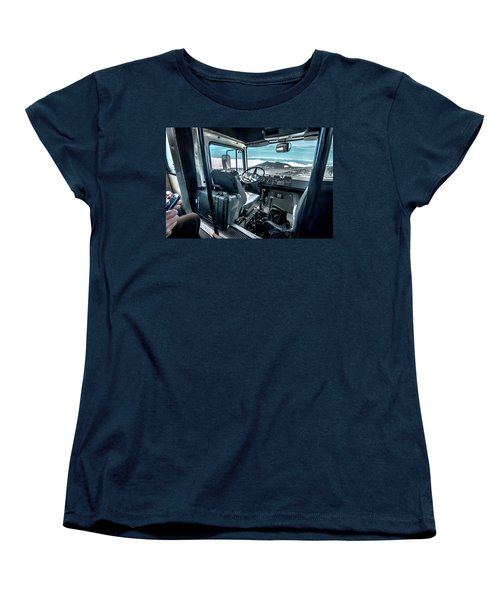 Inside The Etna Tour Unimog Women's T-Shirt (Standard Cut) by Patrick Boening