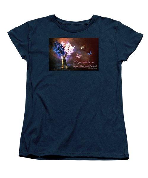 Inspirational Flower Art Women's T-Shirt (Standard Cut) by Tina LeCour
