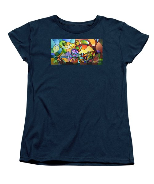 Into The Day Women's T-Shirt (Standard Cut) by Sally Trace