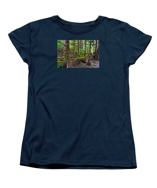 Into The Forest Women's T-Shirt (Standard Cut) by Lewis Mann
