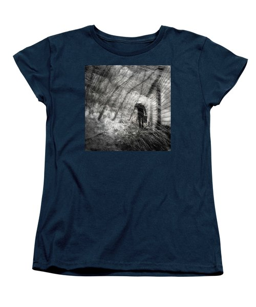 Women's T-Shirt (Standard Cut) featuring the photograph Into The Storm by Gray  Artus