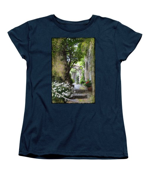 Inviting Courtyard Women's T-Shirt (Standard Cut) by Carla Parris