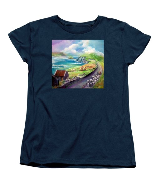 Women's T-Shirt (Standard Cut) featuring the painting Ireland Co Kerry by Paul Weerasekera