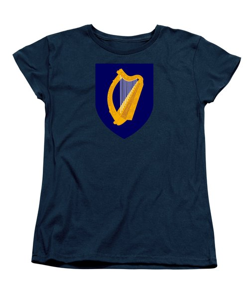 Women's T-Shirt (Standard Cut) featuring the drawing Ireland Coat Of Arms by Movie Poster Prints