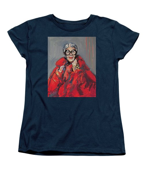Iris Apfel Style Icon Women's T-Shirt (Standard Cut) by Nop Briex