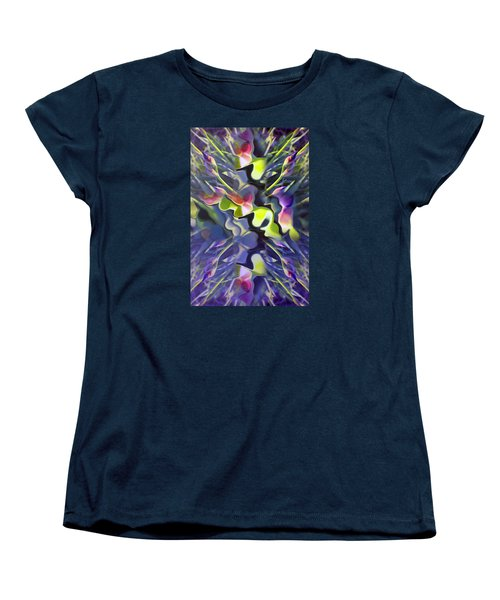 Iris Bursts Women's T-Shirt (Standard Cut) by Tina M Wenger