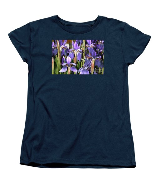Women's T-Shirt (Standard Cut) featuring the photograph Iris Fantasy by Benanne Stiens