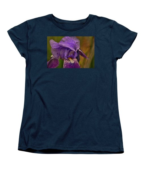 Women's T-Shirt (Standard Cut) featuring the photograph Iris Popping Out by Rick Friedle