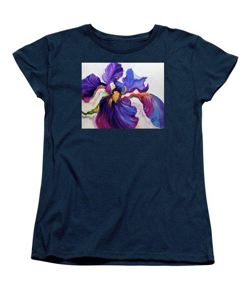 Iris Serenity Women's T-Shirt (Standard Cut) by Marcia Baldwin