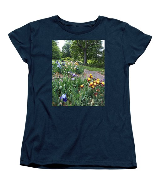Women's T-Shirt (Standard Cut) featuring the photograph Iris With Trees by Nancy Kane Chapman