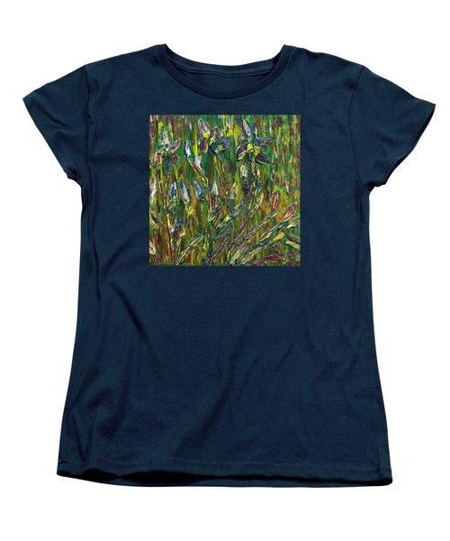 Irises Dance Women's T-Shirt (Standard Cut) by Vadim Levin