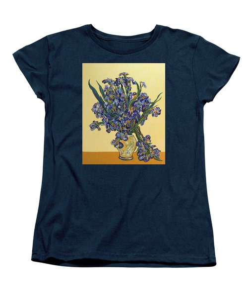 Irises  Women's T-Shirt (Standard Cut) by Erika Pochybova