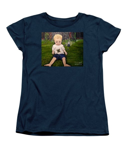 Women's T-Shirt (Standard Cut) featuring the painting Irish Blessings From Heaven by Kimberlee Baxter