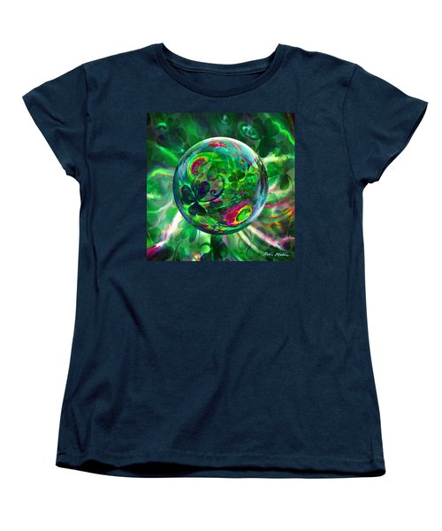 Women's T-Shirt (Standard Cut) featuring the painting Irish Charms by Robin Moline