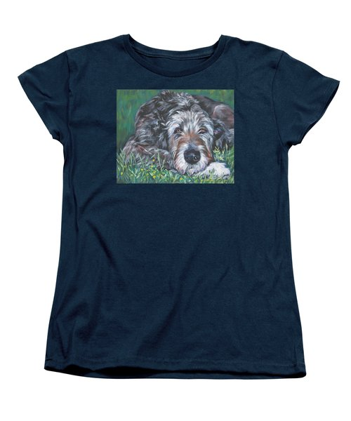 Irish Wolfhound Women's T-Shirt (Standard Cut) by Lee Ann Shepard