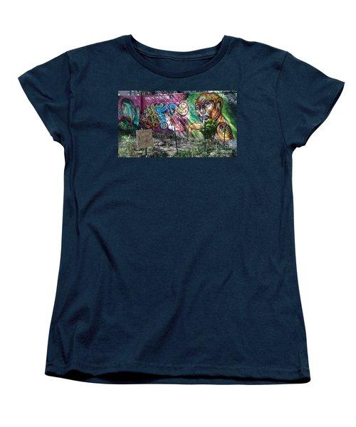 Women's T-Shirt (Standard Cut) featuring the photograph Isham Park Graffiti  by Cole Thompson