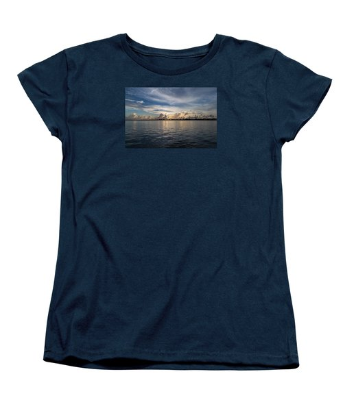 Island Horizon Women's T-Shirt (Standard Cut) by Christopher L Thomley
