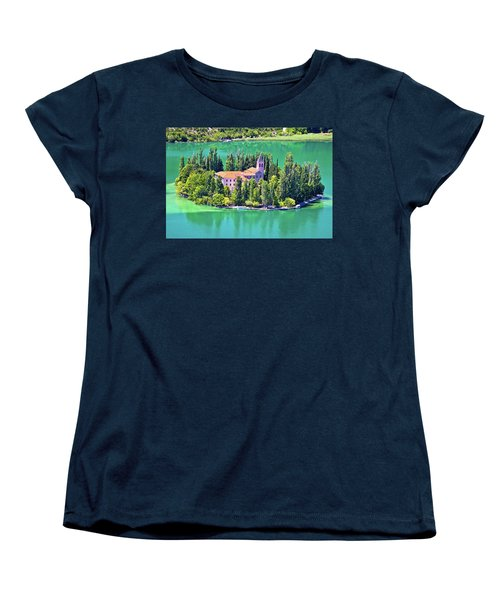 Island Of Visovac Monastery In Krka  Women's T-Shirt (Standard Cut) by Brch Photography