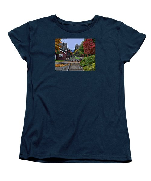 Women's T-Shirt (Standard Cut) featuring the photograph Issaquah Train Station by Kirt Tisdale