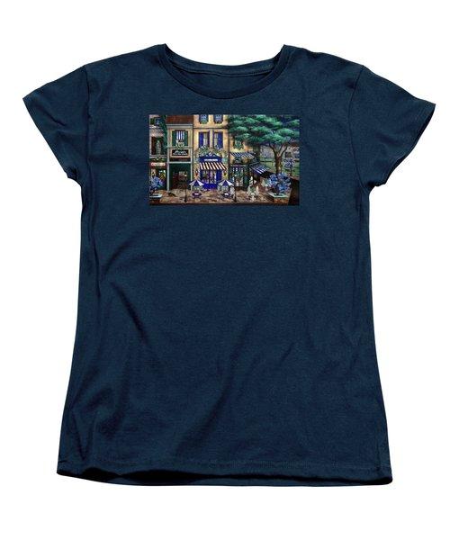 Italian Cafe Women's T-Shirt (Standard Cut) by Curtiss Shaffer