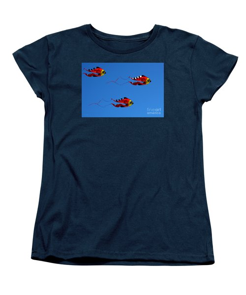 It's A Kite Kind Of Day Women's T-Shirt (Standard Cut) by Clayton Bruster
