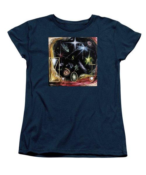 Women's T-Shirt (Standard Cut) featuring the painting It's Full Of Stars  by Ryan Demaree