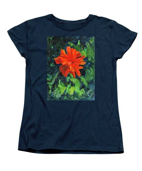 Women's T-Shirt (Standard Cut) featuring the painting I've Got My Red Dress On by Billie Colson