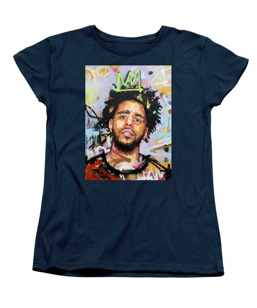 J Cole Women's T-Shirt (Standard Cut) by Richard Day