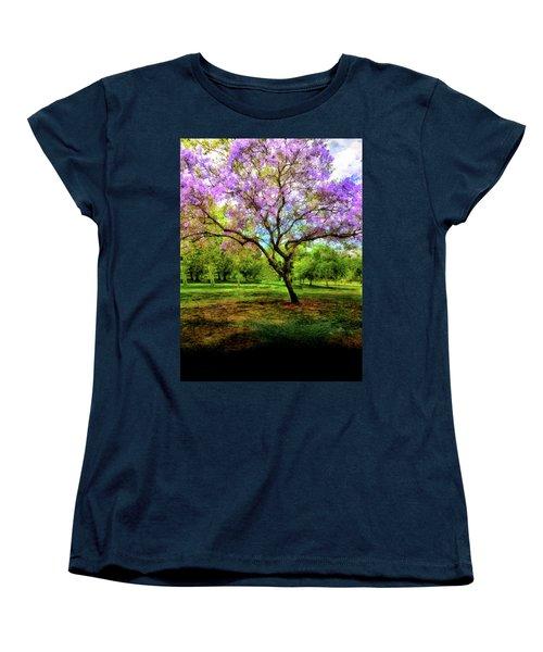 Jacaranda Tree Women's T-Shirt (Standard Cut) by Joseph Hollingsworth