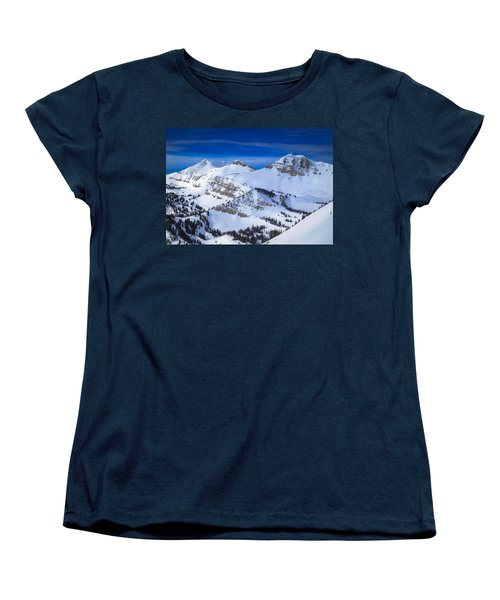 Jackson Hole, Wyoming Winter Women's T-Shirt (Standard Cut) by Serge Skiba